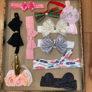 Baby girl's 10 hair bows